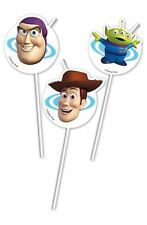 Disney Pixar Toy Story 3 Boys Girls Birthday Party Drinking Straws - 6 pk