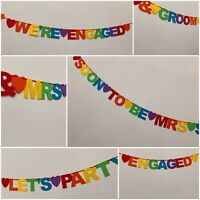 Personalised LGBT Engagement Party Banner Decorations Same Sex Rainbow bunting