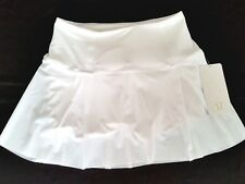 Lululemon Lost In Pace Skirt Size 10 Tall Skort Shorts White Golf Tennis NWT