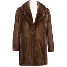 Men's Loose Faux Mink Fur Coat Overcoat Parka Long sleeve Lapel Winter warm Chic
