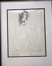 Original Pablo Picasso  (1881–1973) hand signed beautiful nude drawing print