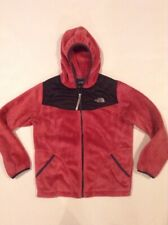 The North Face Hooded Osito Fleece Full Zip Fuzzy Jacket Girls Sz Large Pink