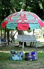 Indian Plastic Garden Parasol Patchwork Outdoor Waterproof Shade Patio Umbrella