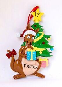 Personalised Christmas Tree Ornament/Decoration - Christmas Kangaroo