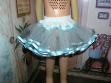 "Baby Blue Nylon Net Slip Petticoat 25"" Doll clothes fits Mattel Charmin Cathy"