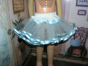 "Baby Blue Nylon Net Slip Petticoat 25"" Doll clothes fits Mattel Charmin Cathy"