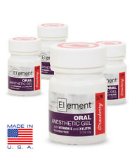 4 JARS ELEMENT 20% Benzocaine Topical Anesthetic STRAWBERRY Tattoo Piercing