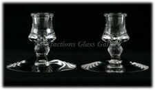 Heisey Mercury Vintage Glass Candlesticks No112 Elegant Glass Taper Candleholder