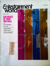 ENTERTAINMENT WORLD - DEATH OF ROCK AND ROLL - COVER STORY - MAY,1970 - 40 PGS