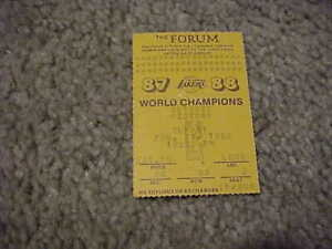 1988 Los Angeles Lakers v Detroit Pistons Basketball Ticket Isiah Thomas 42 pts