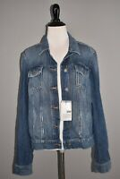 PAIGE NEW $199 Aveline Classic Denim Jean Jacket Alamar Distressed Small