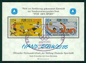 GERMANY SOUVENIR SHEET 1980 FOOTBALL SOCCER WATER POLO SPECIMEN PROOFS fa42