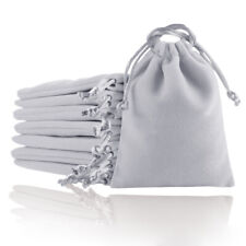 Gray Velvet Jewellery Gift Bag Drawstring Pouches 7x9cm 8x10 10x12 12x16 15x20cm
