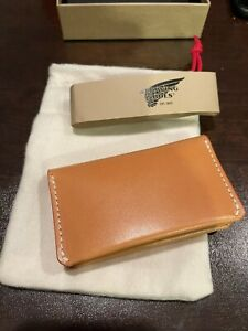 New Red Wing Card Holder Wallet # 95023 Vegetable Tan Leather Made In USA