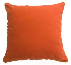 Mb59a Deep Orange Plain Flat Velvet Style Cushion Cover/Pillow Case *Custom Size