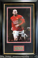 WAYNE ROONEY MANCHESTER UNITED SUPERSTAR SIGNED FRAMED ACTION PHOTO