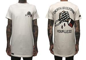 Hourless Tall Tee (T-Shirt) Mens S M L XL XXL WHITE Afends Vans RVCA Tattoo