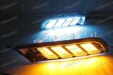 Three Colors LED Daytime Running Lights DRL Fog Lamps For Nissan Kicks 2017-2018