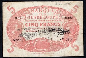 5 Francs From Guadeloupe Good