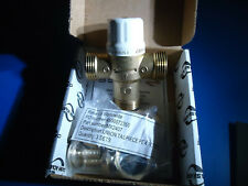 "Heat Guard Thermostatic Mixing Valve TMV HG110LSB LF C/W 1/2"" PEX BARB New"