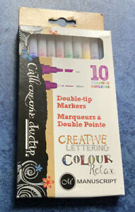 Manuscript Callicreative Duotip - 10 Pieces - Double Ended Markers with...