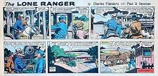 The Lone Ranger by Charles Flanders - lot of 11 color Sunday pages - early 1963