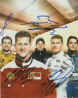 MICHAEL SCHUMACHER JENSON BUTTON DAVID COULTHARD SIGNED F1 RACING 8X10 PHOTO PRO