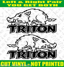 TRITON Stickers WILD PIG 4x4 ute for Mitsubishi accessories Pair 200mm