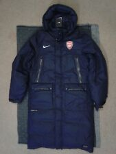 Official Arsenal Mens Navy Arsene Wenger Bench Coat Detachable Hooded Size Large