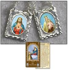 Lady of Mt Carmel Chain Scapular + Rosary + Holy Cards + Medals + Green Scapular