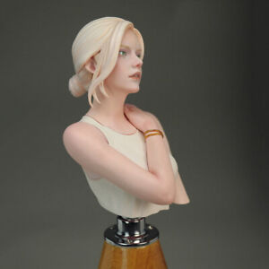 1/10 resin figure bust model kit Sexy girl in vest R4610 Unassembled Uncolored