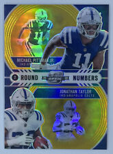 2020 Optic Contenders Round Numbers Gold Michael Pittman Jonathan Taylor /10