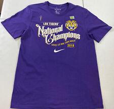 Nike LSU Tigers 2019 College Football National Champions Shirt Men's Size Medium