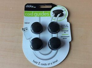 4/pack - Dotz Cord Guides DCG42M-CK Cord and Cable Management for Home & Office!