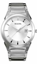 Bulova 96B015 Men's Stainless Steel Silver Dial Automatic 38mm Case Watch