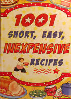 1001 recipes short, easy, inexpensive by cookbook resources
