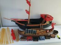 Playmobil Pirate Vikiing Ship Boat Base Spares Trunks Rigging Extras