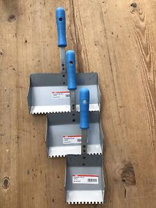 Klebekellen Plankellen Porenbeton Dünnbettmörtel-Kellen 3er Set 115,175 u 240 mm