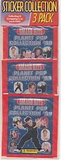 3 Packets of Smash Hits Planet Pop Collection '99 Panini Stickers MIP