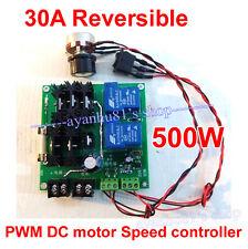 Reversible 30A 12V-30V 24V 500W DC Motor Speed Control PWM Regulator Controller