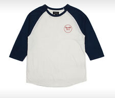 Brixton Wheeler Raglan Baseball Tee T Shirt in Off White / Navy Size 2XL XXL