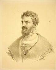 LITHOGRAPHIE de Ducarme début XIX è siècle portrait d'un personnage à identifier