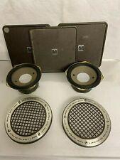 2 x  Grundig Super Hifi Box TL100 Tieftöner  3,5 Ohm +Zierringe +Schrauben