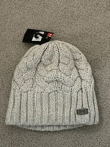 New Under Armour Ladies Cable Beanie Knit Hat - Winter Golf - Grey
