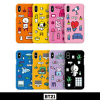 BTS BT21 Official Authentic Goods Color Soft Jelly Case Roomies Series By GCASE