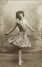 PRETTY AND SEXY FRENCH STAGE STAR: NELLA CLARY (VINTAGE REAL PHOTO POSTCARD)