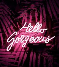 """Hello Gorgeous Pink Eye-catching Wall Neon Sign Real Glass Handmade 14""""x 9"""""""