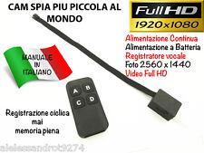 Spia mini spy micro audio Camera NASCOSTA FULL HD VIDEOCAMERA MICROSPIA 1080P