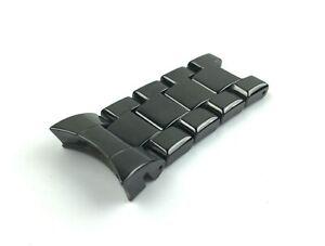 For EMPORIO ARMANI AR1410 Ceramic Black Top/Shoulder Links Strap/Band Watch 22mm