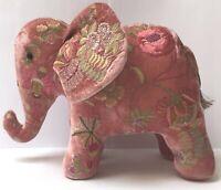 Anke Drechsel Elephant MME BOVARY New Rose Seiden Samt Bestickt Elefant Kissen